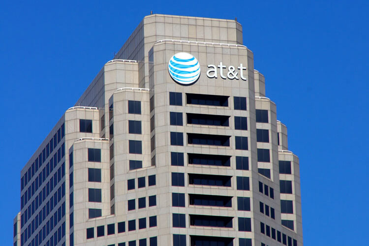 AT&T building offering subscribers free premium services.