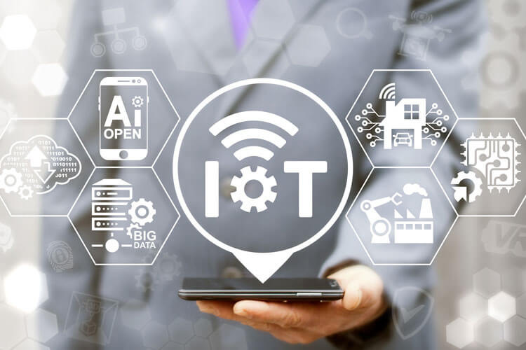 Internet of Things and cloud computing graphic