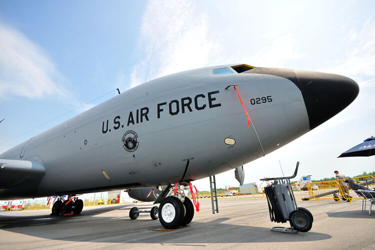 An aircraft used by the U.S. Air Force