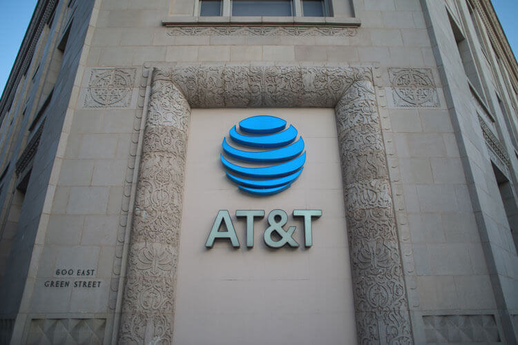 AT&T logo on a building