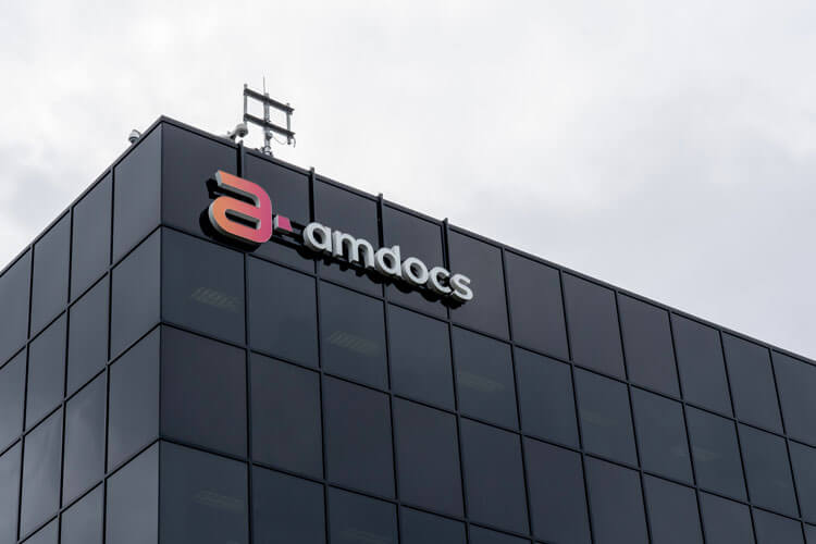 The outside of an Amdocs building.