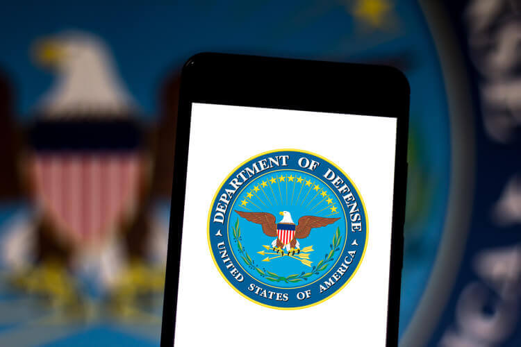 Department of Defense logo on a 5G device