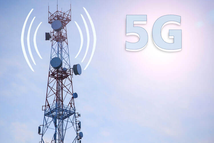 Vector of a 5G tower
