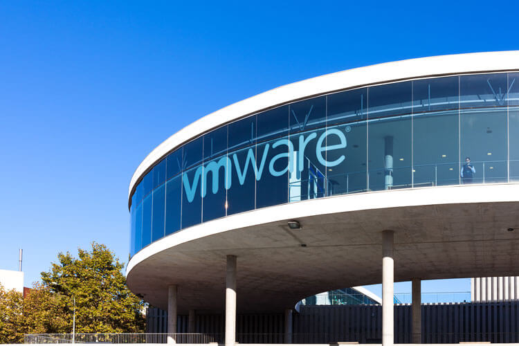 The outside of a VMware building.
