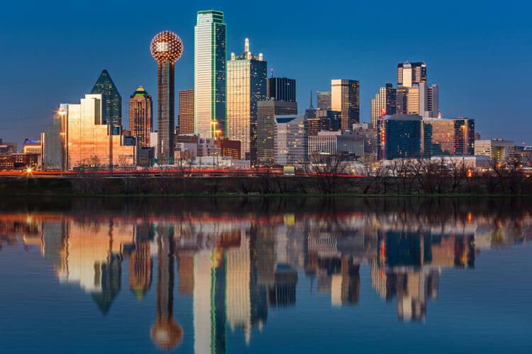 The city of Dallas, TX