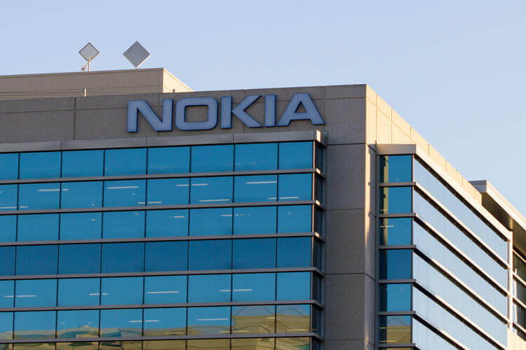 The front of a Nokia building