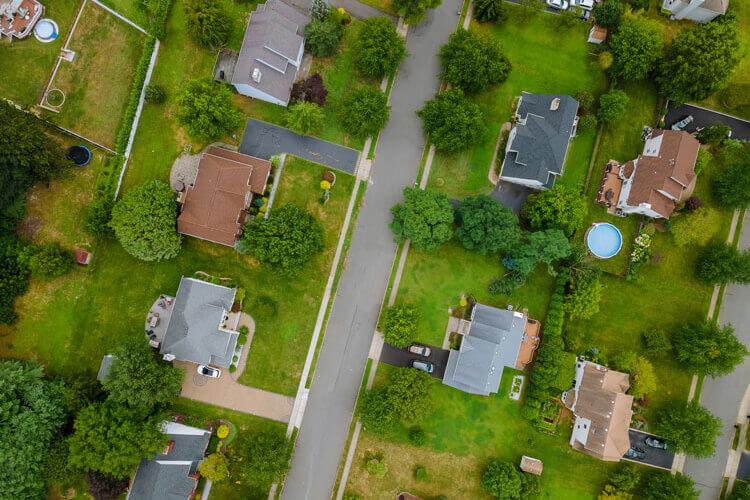 A rural neighborhood