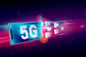 Futuristic 5G Phone Blue and Pink