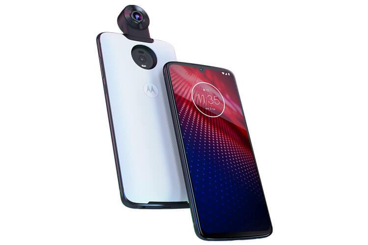 Motorola Moto z4 Phone in White and Black
