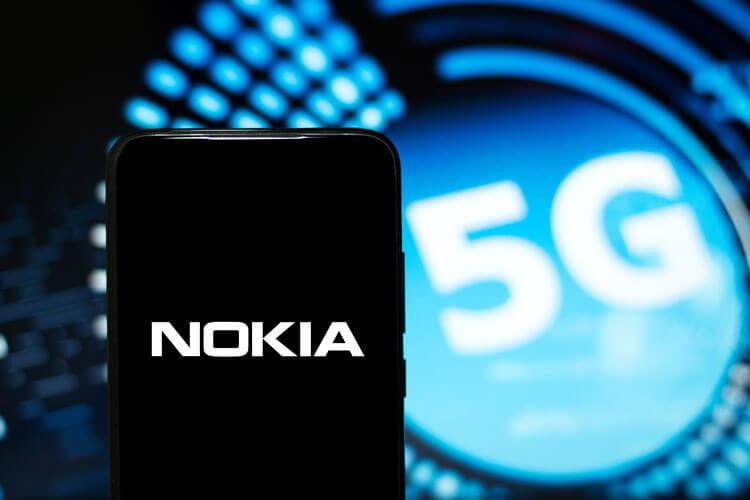 Nokia logo on a 5G device