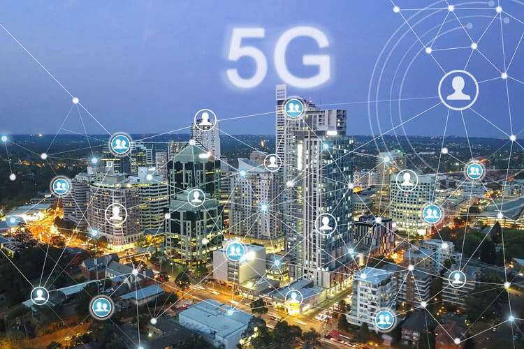 5G vector showing Open RAN networks.