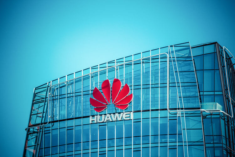 The outside of a Huawei building.