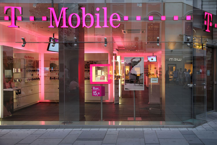 T Mobile Store with Light Up Sign