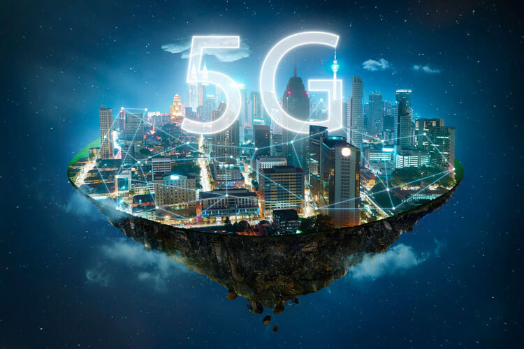 5G expanding throughout a city.