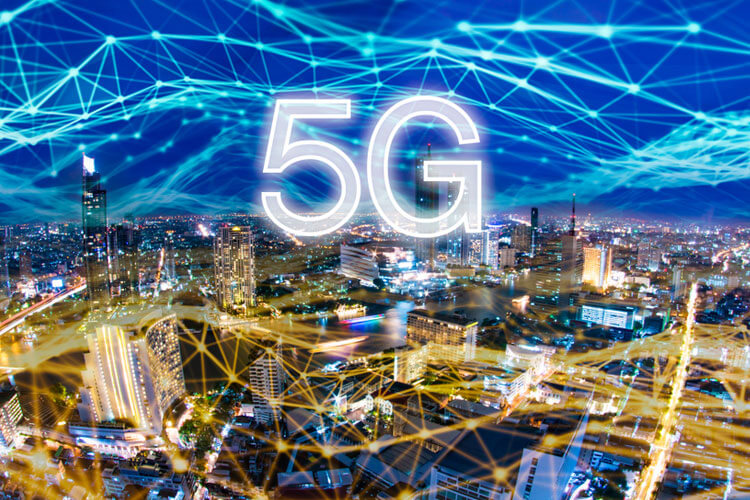 5G Network Connecting a City