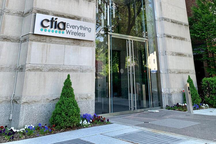 The entrance to a CTIA building