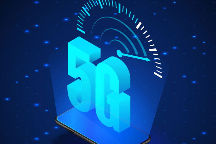 A graphic illustrating 5G speed