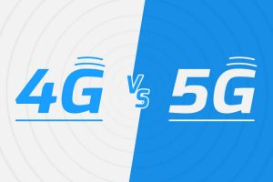 4G vs 5G Blue and White