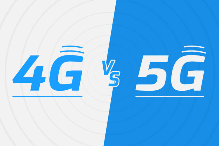 4G vs 5G Blue and White