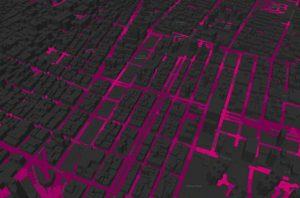 City Grid in Gray and Pink