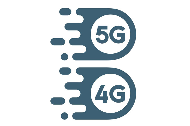 A graphic of 5G and 4G